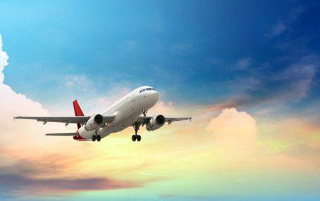 Plane Taking Off Overseas